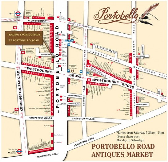 Portobello Road And Market Reviews Tours Amp Map