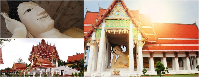 best authentic b7e97 286df An open air temple, Wat Hat Yai Nai has one of the largest Buddha statue in  the world reclining under its roof.